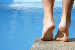 Feet by Pool Royalty Free Stock Photos