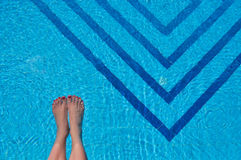 Feet in a pool Stock Photos