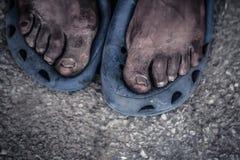 Feet portrait Stock Photography