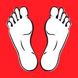 Feet Poster royalty free illustration