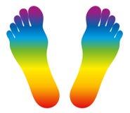 Feet Rainbow Colored Royalty Free Stock Image