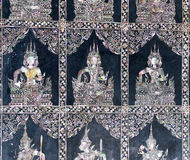 Feet of Reclining Buddha, Bangkok Royalty Free Stock Photos