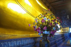 Feet of Reclining Buddha in Wat Pho royalty free stock photos