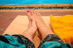 Feet is resting Royalty Free Stock Photos