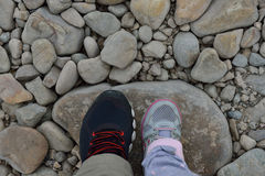 Feet on the rock Royalty Free Stock Photos