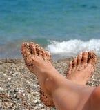 Feet in rocks Royalty Free Stock Photo
