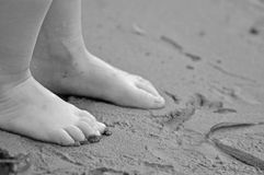 Feet and Sand Stock Image