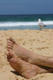 Feet on sand Royalty Free Stock Photos