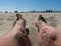Feet on The sand Stock Photography
