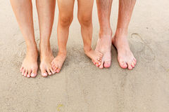 Feet in the sand Royalty Free Stock Photography