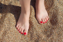 Feet&sand Stock Photography