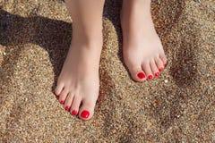 Feet&sand Stock Photography
