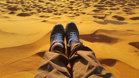 Feet on sand, Merzouga, Morocco