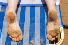 Feet with sand Royalty Free Stock Photography