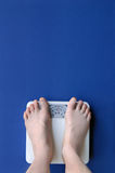 Feet on Scale stock photography