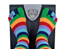 Feet on a scale Royalty Free Stock Photo