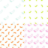 Feet seamless pattern and background set. Foot. Texture in modern clean and simple flat design. Vector Royalty Free Stock Images
