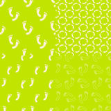 Feet seamless pattern and background set. Foot Stock Photo