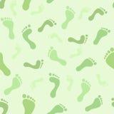 Feet seamless pattern Stock Photography