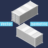 20 feet shipping container isometric. 20 feet shipping container in isometric view. Vector flat illustration Royalty Free Stock Photo