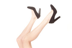 Feet in shoes Royalty Free Stock Images