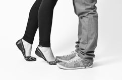 Feet and shoes Royalty Free Stock Photo
