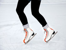 Feet skater on the ice Royalty Free Stock Images