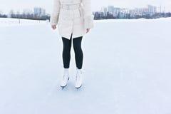 Feet in skates Stock Images