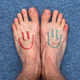 Feet smileys Stock Photos