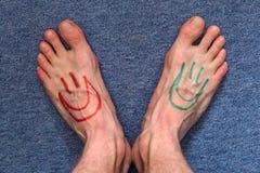 Feet smileys Stock Photo