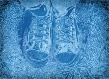 Feet in sneakers stock images