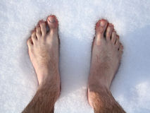 Feet in snow stock photography
