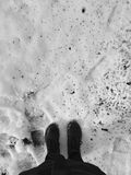 Feet in the snow Royalty Free Stock Images