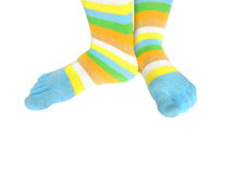 Feet and socks Stock Image