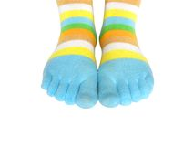 Feet and socks Royalty Free Stock Photos