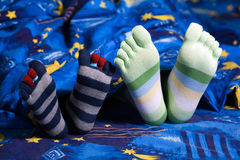 Feet in socks Stock Photography