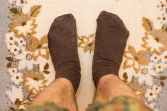 Feet in socks Royalty Free Stock Images