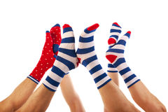 Feet in socks Stock Image