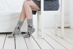 Feet in socks Royalty Free Stock Photo