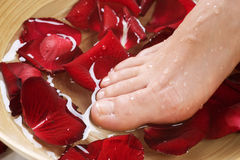 Feet Spa. Pedicure Concept close-up Royalty Free Stock Photography