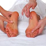 Feet and SPA Stock Photo