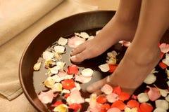 Feet spa behandeling stock fotografie