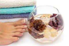 Feet spa behandeling stock afbeelding