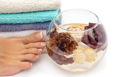 Feet spa treatment Stock Image