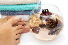 Feet spa treatment Royalty Free Stock Images