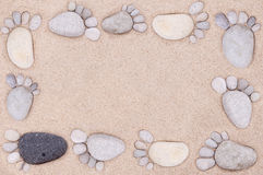 Feet by stones Royalty Free Stock Photo