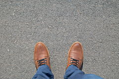 Feet on the street Stock Images