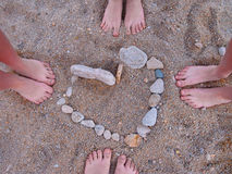 Feet, summer, love Stock Photography