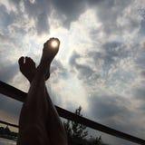 Feet in the sun Stock Photography