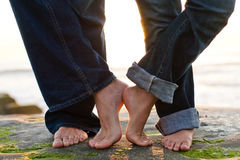 Feet at Sunset Royalty Free Stock Photography